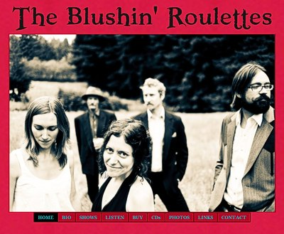 Blushin' Roulettes: official band website -- website design and maintenance by Sienna M Potts