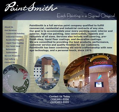 PaintSmith Company: Seattle Painters -- website design and maintenance by Sienna M Potts
