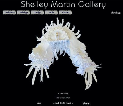 Shelley Martin Gallery: Paper Sculpture -- website design and maintenance by Sienna M Potts